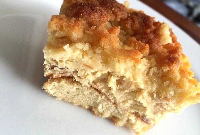 成城石井「プレミアムチーズケーキ」の一切れ