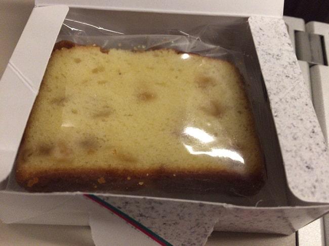 東北新幹線グランクラスのリンゴのパウンドケーキ