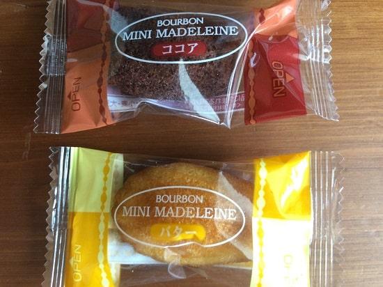 ブルボン - しっとりミニマドレーヌのバターとココア