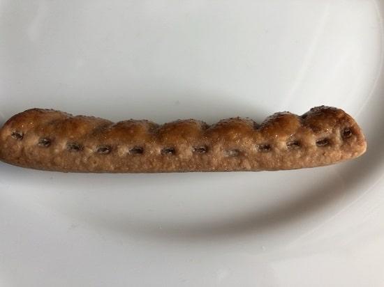 サクッテ チョコレートパイを横からみたところ